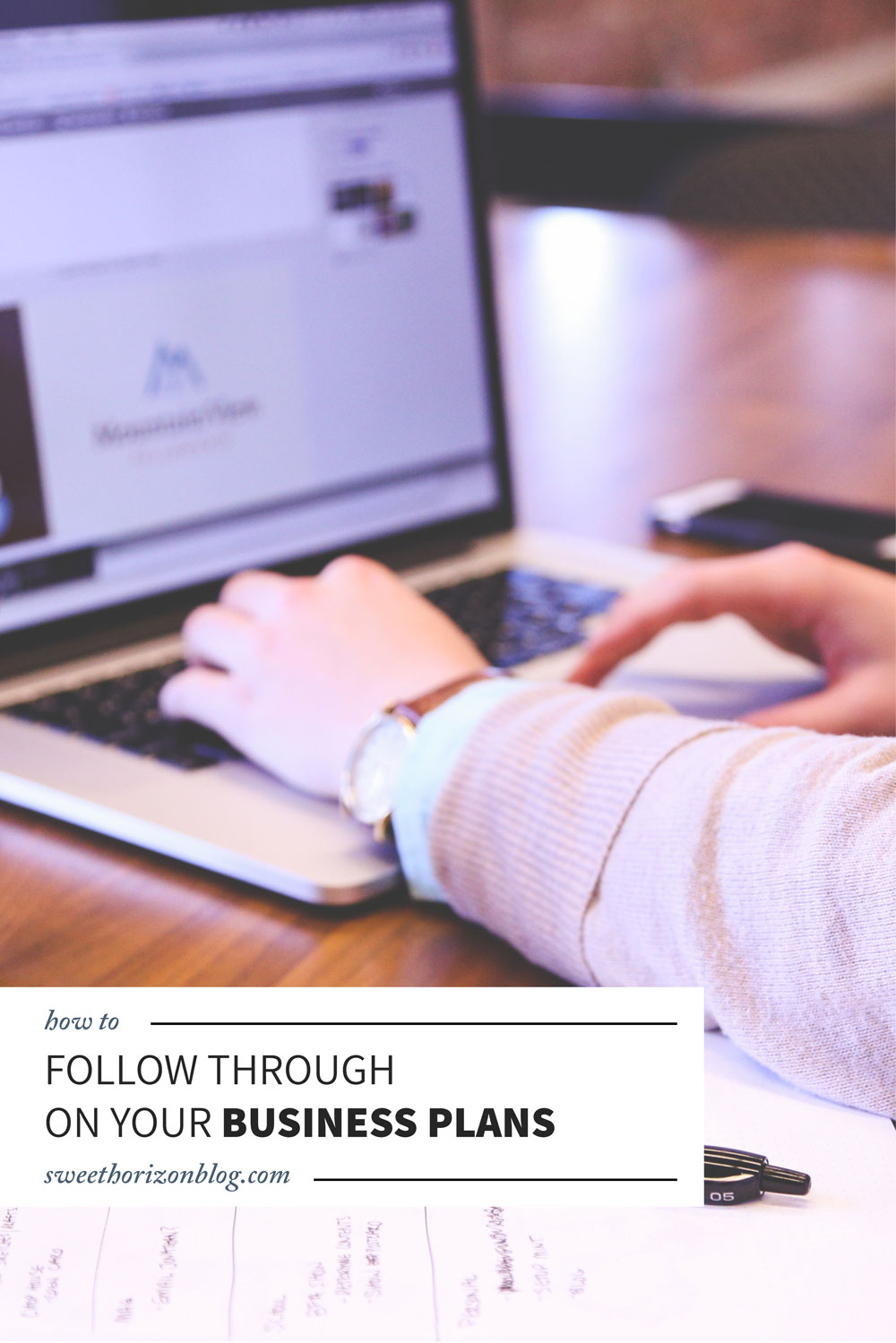 Connecting Ideas to Concept - How to Follow Through on Your Business Plans from www.sweethorizonblog.com