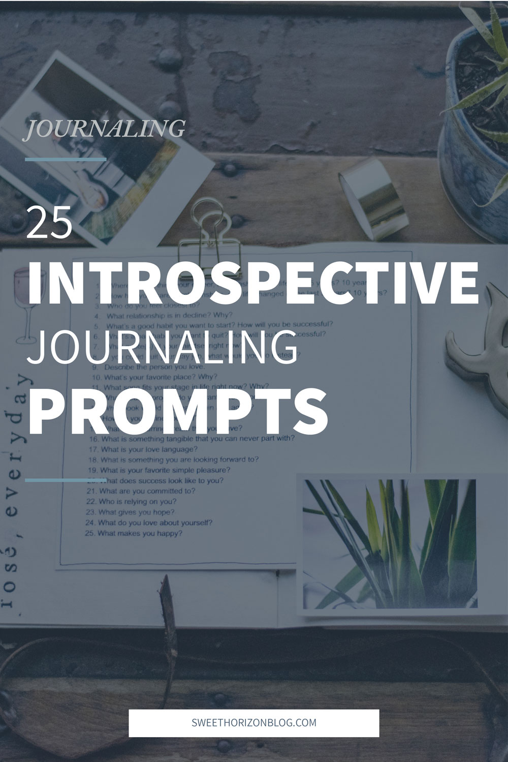 25 Introspective Journaling Prompts from www.sweethorizonblog.com